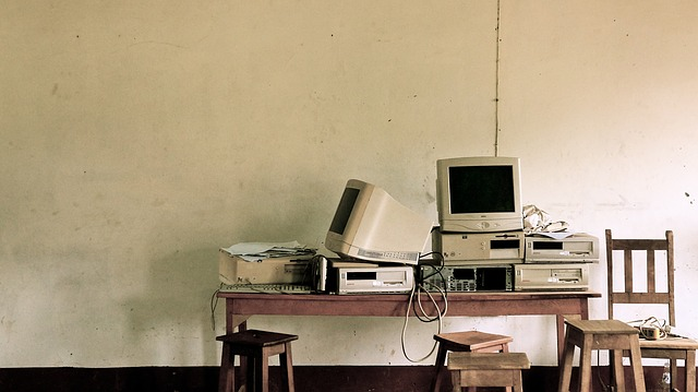 Bildung Ökologie alter computer